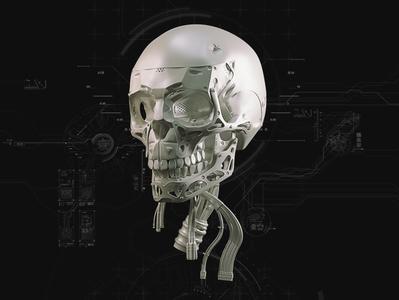 Mech skull mech render art vray modo zbrush 3d artist 3d art 3d design skull art skull
