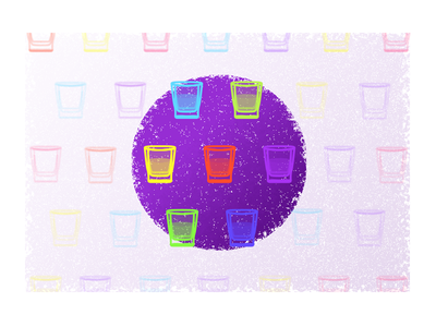 Hydration health glass drink cup purple icon illustration wellbeing hydration water