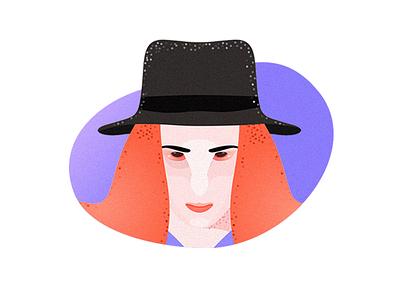 Avatar Female texture portrait character avatar green farmer illustration icon