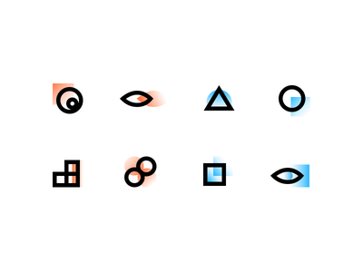 Abstract Icon line abstract icon illustration
