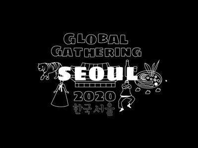 Global gathering - Seoul illustration seoul