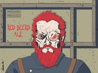 Red Beerd - Beer Label Illustraions