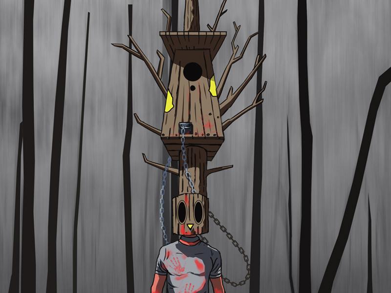 Birdhouse movie art movie film 2d digital dark character design horror poster art artwork art illustration art illustrator illustration