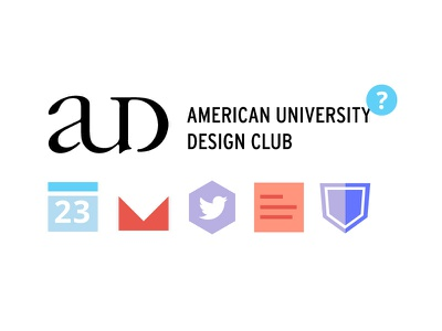 AU Design Club Website website simple flat design geometric