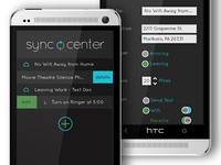 Sync Center UI