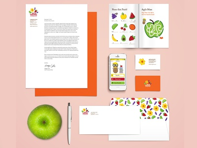Edible Arrangements Rebranding & App Set logo hand lettering typography fruit edible arrangements illustration