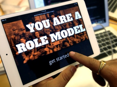 You Are A Role Model App ipad app typography big ipad mini application guide