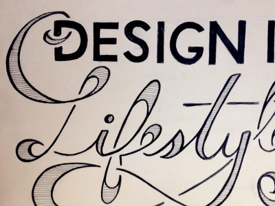 Design Is A Lifestyle (sketch) typography design is a lifestyle quote lettering hand drawn