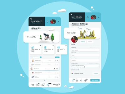 Profile settings ■ design web interactive spring winter profile settings minimal app minimal design icon ux design ux ui design ui 3d illustrations clear app mobile app app