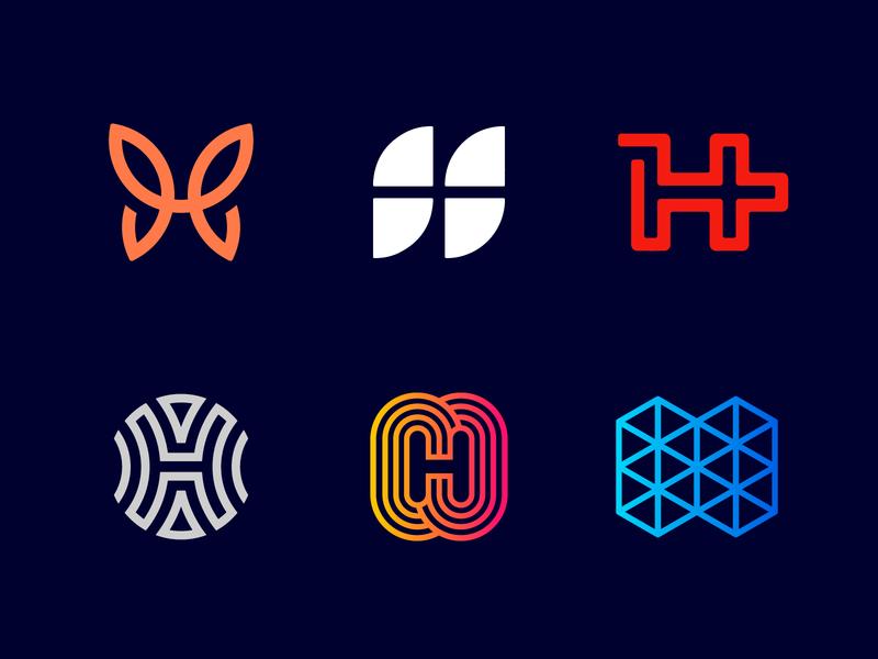 Logo Alphabet - H Lettermarks