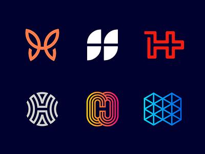 Logo Alphabet - H Lettermarks symbol design abstract startup butterfly mark minimal icon typography alphabet logo monogram branding brand logotype alphabet logo h