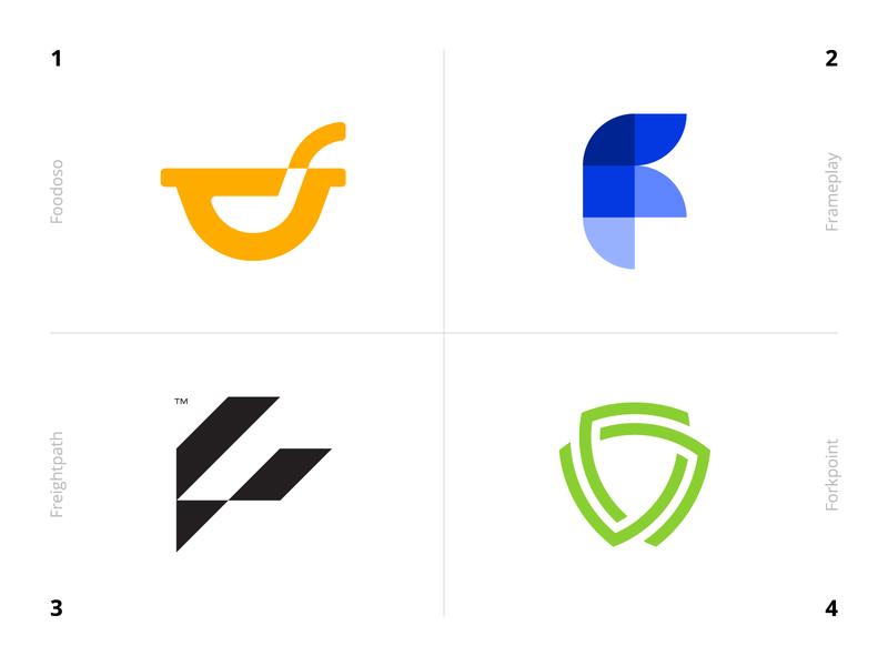 Logo Alphabet - F Lettermarks