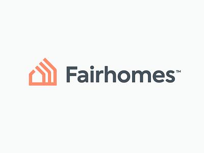 Fairhomes logo logotype house logo logo design sale icon startup real estate logo layers identity house home branding brand design logo