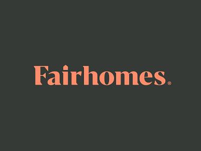 Fairhomes wordmark wordmark logo modern brand startup realestate home house icon lettering wordmark design branding logo