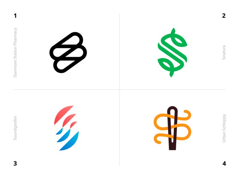Logo Alphabet - S Lettermarks letter identity symbol design mark minimal monogram logo logo design logotype alphabet monogram branding brand logo