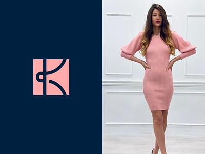 Karma icon identity mark minimal boutique fashion brand logotype knot monogram k karma logo design branding logo