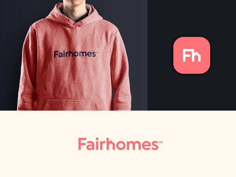 Fairhomes Branding brand identity real estate branding smart logotype logodesign house modern wordmark icon startup real estate logo home brand identity monogram mark design minimal branding logo