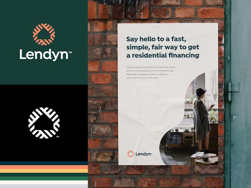 Lendyn Branding home brand design nest wordmark tech modern brand identity logodesign branding brand logo mortgage negative space logo house icon identity design minimal finansing startup