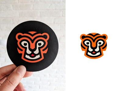 Tiger animal logo merch cat toger animal brand identity mark design branding logo