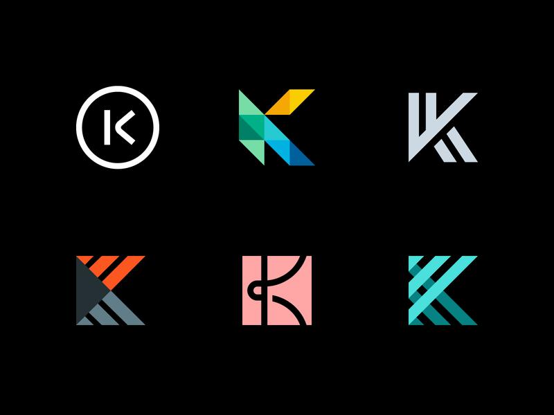 Logo Alphabet - K Lettermarks alphabet logo alphabet letter k brand logotype symbol icon identity monogram mark design branding logo