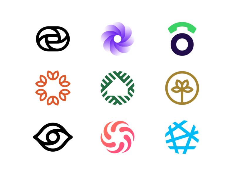 Logo Alphabet - O Lettermarks startup twist neuron eye flower house phone lettermark o symbol brand icon identity monogram mark design minimal branding logo