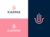 Karma Branding icon identity mark design minimal beauty protect logodesign clothing brand boutique logo fashion hand branding brand logo karma
