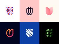 Logo Alphabet - U Lettermarks modern logo minimalist logo logo design lettermark alphabet startup logo u identity icon symbol brand monogram mark design minimal branding logo