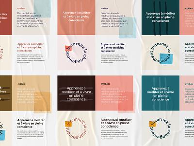 Branding Exporation friendly calm startup startup branding brand design meditation moodboard typography colour palette brand identity branding brand logo