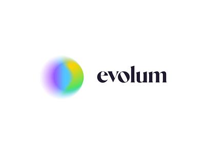 Evolum chakras emotion festive minimal growth colorfull brand meditation flow evolution logo design identity branding logo