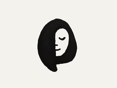 Sleeepy Sketch sketch sleepy women face sleep symbol icon brand identity mark design branding logo