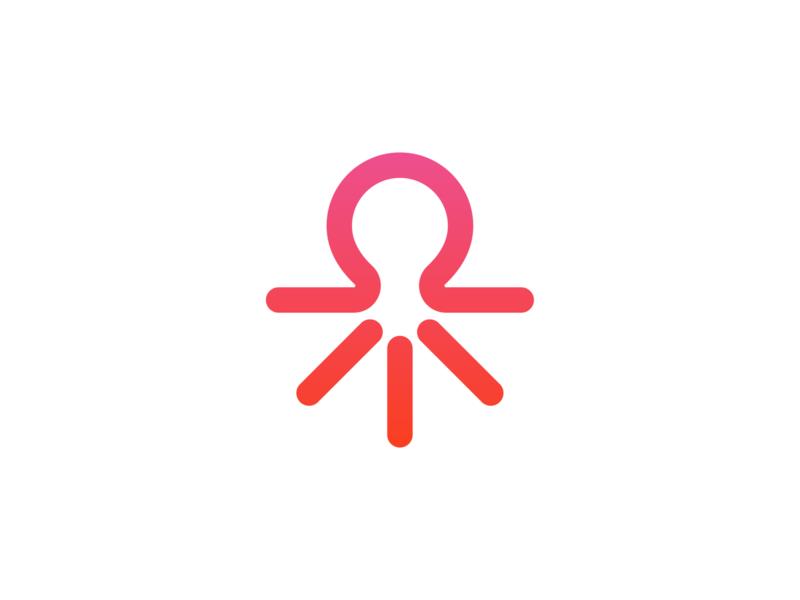 Octopus community creative octopus symbol startup mark design minimal branding logo