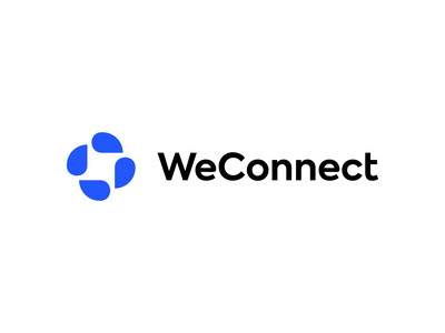 WeConnect clouds startup hosting connect cloud icon brand identity design minimal branding logo