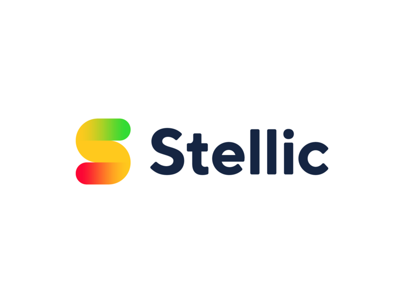 Stellic startup icon brand identity mark design minimal traffic light monogram education path branding logo