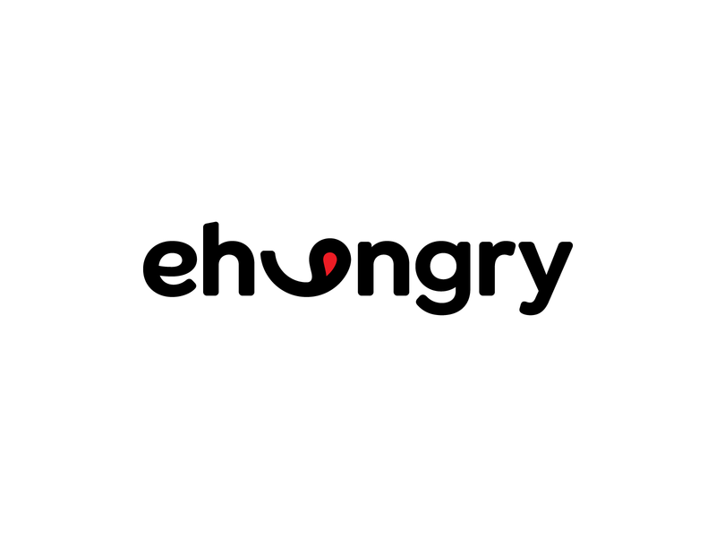 ehungry restaurant tasty brand design symbol brand custom food eat mark identity branding logo