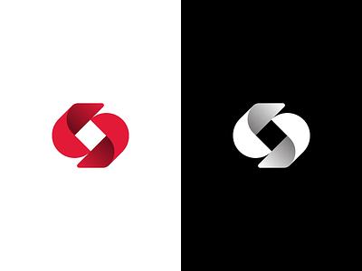S ambigram together flow brand simple logo design letter ambigram s monogram identity mark design minimal branding logo