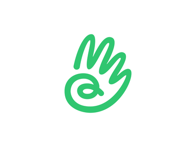 Hand handmade scribble care sharing hand drawn a startup branding startup friendly hand icon brand identity mark design branding logo