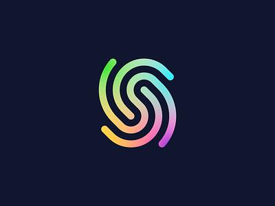 S/Fingerprint tech logo logo design logotype letter logo related bound tech startup trace fingertprint lettermark s branding brand logo