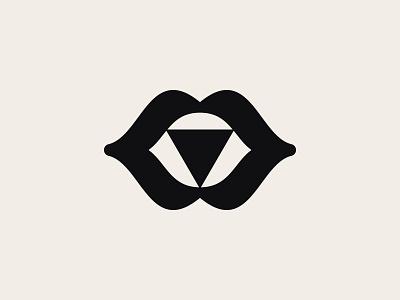 Mouth logo design brand icon identity minimal mark occult symbol logodesign mouth design branding logo