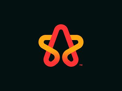 Star logo design symbol startup icon monogram identity mark design logodesign star branding brand logo