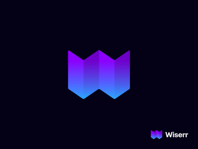 Wiserr startup logo trips w paper map icon monogram brand identity mark minimal design branding logo