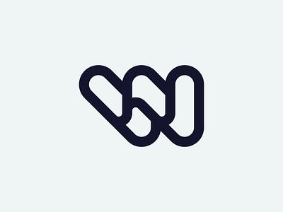 W monogram lettermark w startup symbol monogram brand identity mark minimal design branding logo