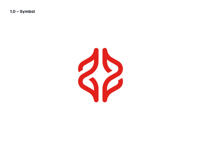 BiohackrHealth healthcare logo design brain dna chain clinic biohacking health startup symbol brand identity mark minimal design branding logo