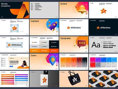 AliReviews animal symbol brand guidelines brand identity reviews star monogram brand identity minimal design branding logo