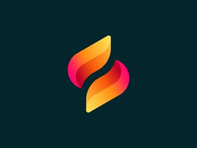 Wip s logo monogram logo letter logo fire flame s startup icon monogram brand identity mark minimal design branding logo