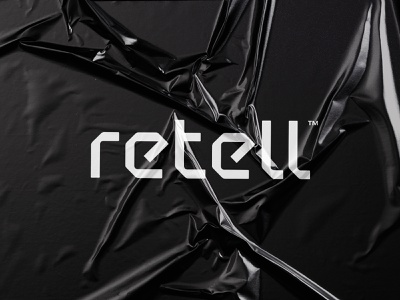 Retell wordmark letter logo brand identity logo design data artificial intelligence machine learning letter wordmark brand identity mark minimal design branding