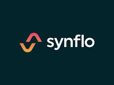 synflo brand identity icon letter logo monogram software business team management workflow sales logo design brand identity mark minimal design branding logo