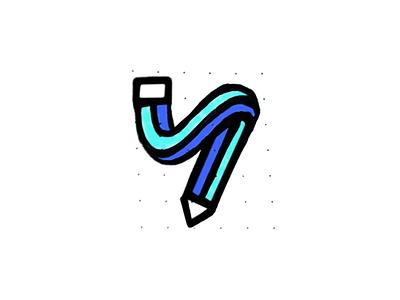 Stretchy letter logo brand identity logo design elastic pencil monogram y brand identity mark minimal design branding logo