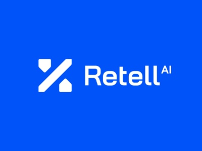 Retell brand identity logo design icon startup technology tech percentage house home real estate mashine learning artificial intelligence ai brand identity mark minimal design branding logo