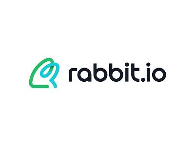 rabbit.io icon startup money coin blockchain payments wallet crypto rabbit logo animal logo rabbit brand identity logo design brand identity mark minimal design branding logo