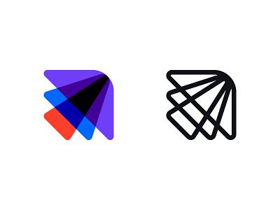 Sales mark arrow process brandidentity logo design crm sales brand identity mark minimal design branding logo